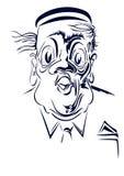 karikatuur Portret van een portier Stock Afbeeldingen