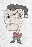 Karikatuur van de boze mens stock illustratie