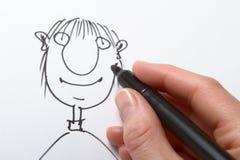 karikatyrteckning Royaltyfria Bilder