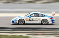 Karim Al- Azhari of Al Nabooda racing during Porsche GT3 Cup 2013 Royalty Free Stock Photography