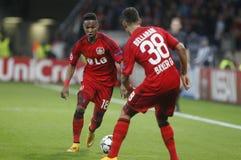 Karim Bellarabi and Wendell Bayer 04 Leverkusen v Zénith Saint-Pétersbourg Champion League Royalty Free Stock Image