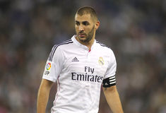 Karim Benzema of Real Madrid Stock Photos