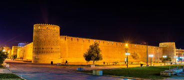Karim Khan-citadel bij nacht in Shiraz, Iran royalty-vrije stock foto's
