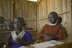 Karimba School with school children in classroom in North Kenya, Africa Royalty Free Stock Photos