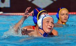 KARIMOVA Elvina (RUS, 4) luttant contre MIRANDA DORADO Lorena (EN PARTICULIER, 7) Image stock