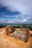 Karimunjava Harbour from Hilltop Royalty Free Stock Image