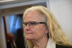 KARIN NODGAARD_MEMBER VAN HET PARLEMENT O DEENSE POLITIE stock foto's