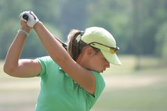 Karine Icher, LPGA golf Tour, Stockbridge, 2006 Royalty Free Stock Photo