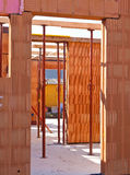 Karkasse eines Wohngebäudes Stockfoto