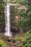 Karkloof在米德兰平原下跌,美丽的瀑布 库存照片