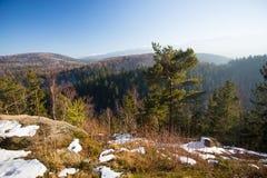 Karkonosze,波兰,在冬天 免版税库存图片