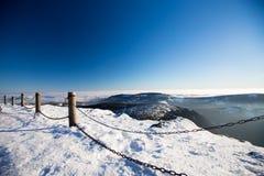 Karkonosze от Sniezka Snezka, в зиме Стоковая Фотография
