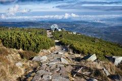 Karkonosze berg i Polen Arkivfoton