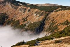 Karkonosze berglandskap Arkivfoto