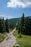 Karkonosze Mountain View Royaltyfria Bilder