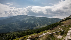 Karkonosze Mountain views. In Poland in the summer Stock Images