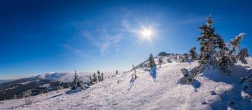 Karkonosze mountains panorama Royalty Free Stock Image