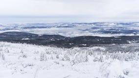 Karkonosze mountains panorama, winter time. Poland Stock Photography
