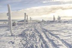 Karkonosze mountains, sunny day, winter time. Poland Stock Photo