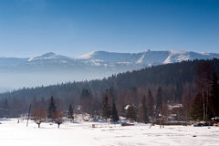Karkonosze Mountains in Winter Stock Photography