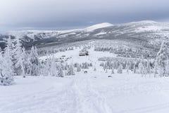 Karkonosze mountains winter time. Poland Royalty Free Stock Image