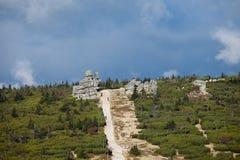 Karkonosze nationalparklandskap Royaltyfria Bilder