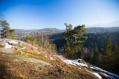 Karkonosze Poland, in winter. Royalty Free Stock Image