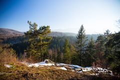 Karkonosze Polen, im Winter Lizenzfreie Stockfotos