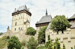 KarlÅ ¡ tejn, Karlstein, slott Arkivbild