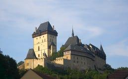 KarlÅ-¡ tejn Schloss in der Tschechischen Republik Lizenzfreies Stockfoto