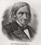 Karl Ernst von Baer. (1792 - 1876) was a Baltic German naturalist of Russian Empire, a biologist, geologist, meteorologist, geographer, a founding father of Stock Photo