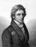 Karl Ferdinand Friedrich von Nagler. (1770-1846) on engraving from 1859. Prussian general-postmaster. Engraved by Nordheim and published in Meyers Konversations Stock Photo