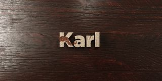 Karl - grungy wooden headline on Maple  - 3D rendered royalty free stock image. This image can be used for an online website banner ad or a print postcard Royalty Free Stock Image