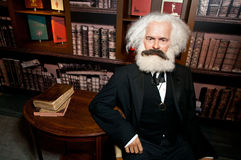 Karl Heinrich Marx Wax Figure Royalty-vrije Stock Fotografie