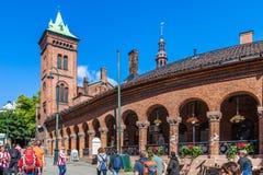 Karl Johan Street in Oslo Royalty-vrije Stock Foto's
