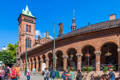 Karl Johan Street in Oslo royalty free stock photos