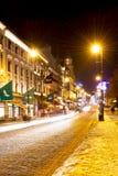 Karl Johans brama przy zimy nocą Zdjęcia Stock