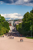 Karl Johans Gate à Oslo Photographie stock