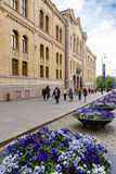 Karl Johans gate is the main street of the city of Oslo, Norway. Royalty Free Stock Images