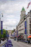 Karl Johans gate is the main street of the city of Oslo, Norway. Stock Image