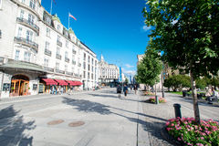 Karl Johans Gate - main street in Oslo Norway Royalty Free Stock Image