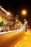 Karl Johans Gate at winter night Stock Photo