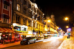 Karl Johans Gate at winter night Royalty Free Stock Images