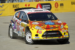 Karl Kruuda of Estonia and Martin Jarveoja of Estonia in their FORD Fiesta S2000 Stock Images