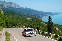Karl Kruuda on IRC event Yalta Rally 2011 Stock Images
