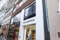 Karl Lagerfeld Shop en Francfort imágenes de archivo libres de regalías