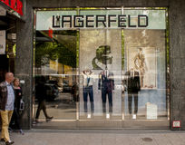 Karl Lagerfeld store in Berlin. BERLIN, GERMANY - MAY 30, 2014:Karl Lagerfeld store in Berlin.Lagerfeld is a German fashion designer based in Paris. He is the Royalty Free Stock Photography