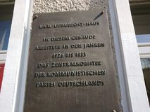 Karl Liebknecht House in Berlijn, Duitsland Stock Foto