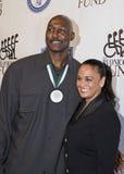 Karl Malone e Kay Kinsey Malone Foto de Stock