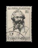 Karl Marx, πρώτη διεθνής επέτειος, circa 1964, Στοκ εικόνες με δικαίωμα ελεύθερης χρήσης